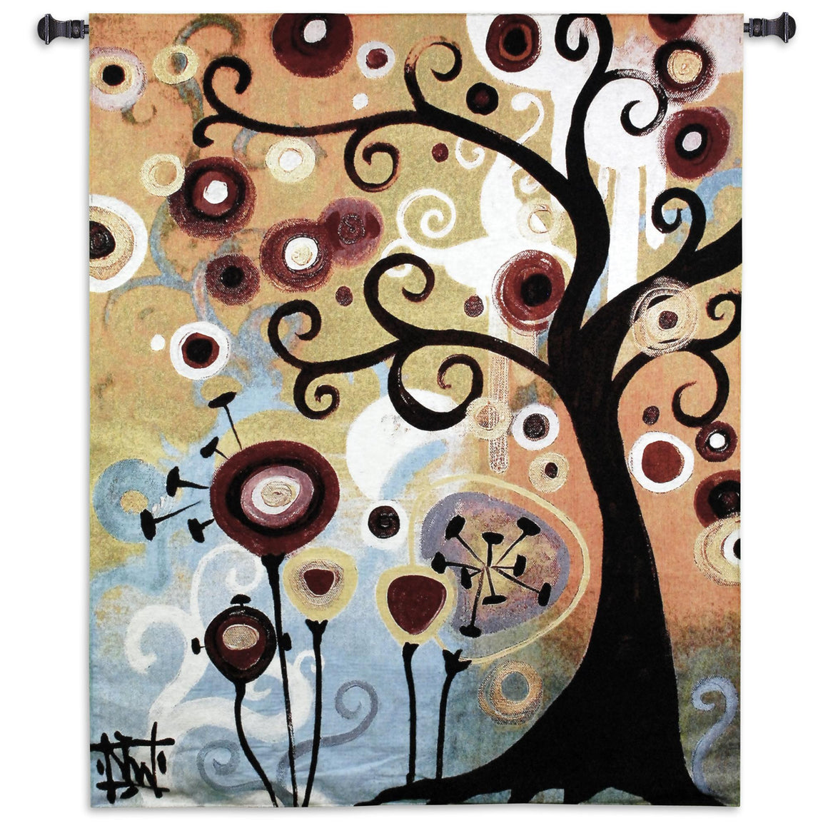 June Tree Medium Woven Wall Hanging Tapestries