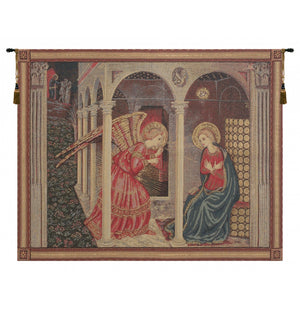 Annunciation with Gold Lurex Decor Wall Tapestry