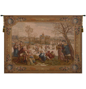 The Skaters Woven Horizontal Tapestry