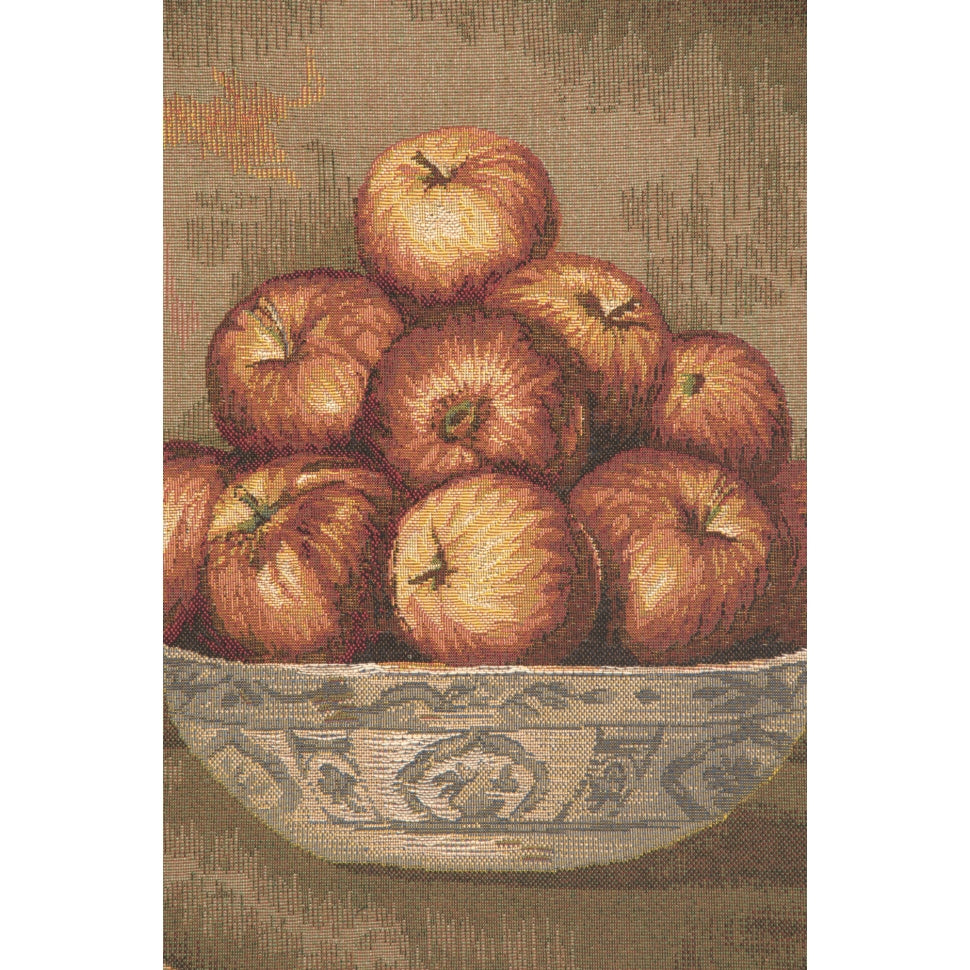 Bowl of Apples in Medallion Woven Wall Hanging