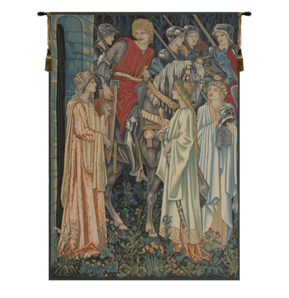 Blue The Holy Grail Left Panel European Wall Hanging