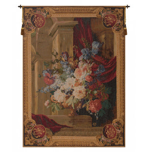 Bouquet Et Architecture Vertical French Wall Tapestry