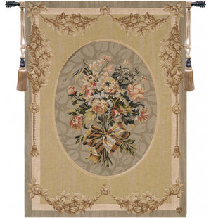 Small Beige Petit Bouquet French Tapestry Wall Hanging