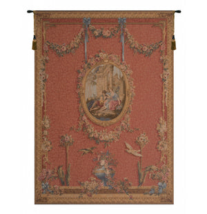 Red Medallion Serenade Rouge French Decor Wall Tapestry