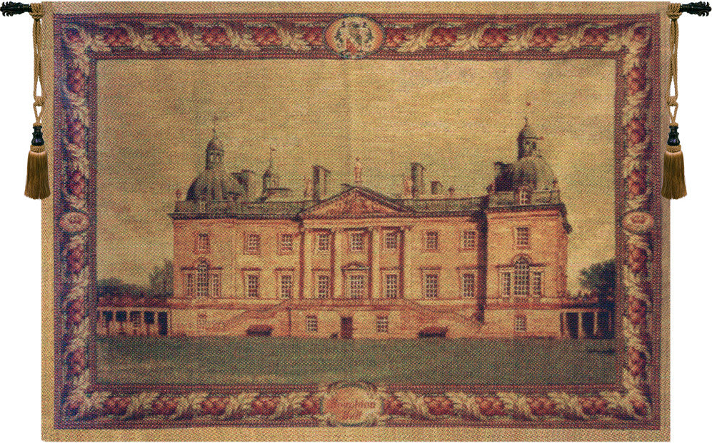 English Castle Belgian Wall Hanging Tapestry