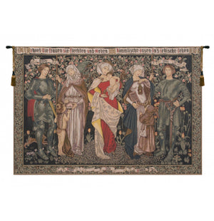 Women's Worth European Wall Hanging Tapestry