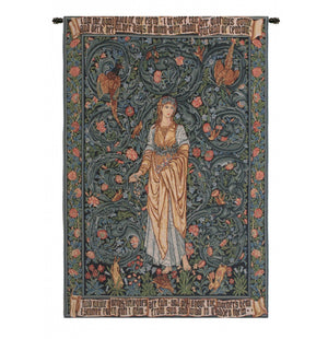 Blue Flora I European Wall Hanging Tapestry