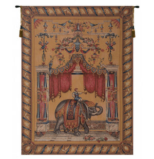 Grotesque Elephant French Wall Tapestry