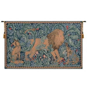 Blue Lion I French Decor Wall Tapestry