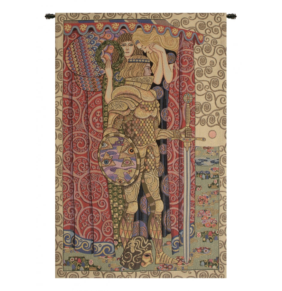 Armored Knight Italian Wall Hanging Tapestry