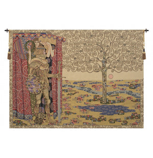 The Knight with the Tree of Life Italian Wall Hanging Tapestry