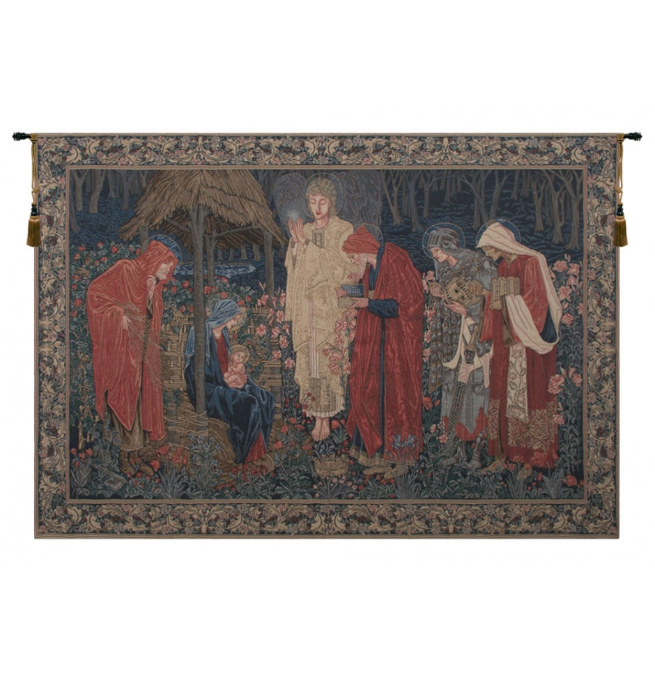 The Adoration of the Magi European Wall Hanging Tapestry