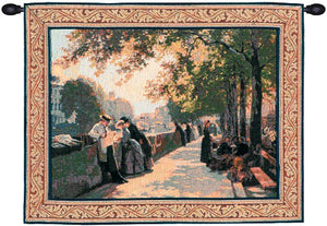 Bank of the River Seine I French Decor Wall Tapestry