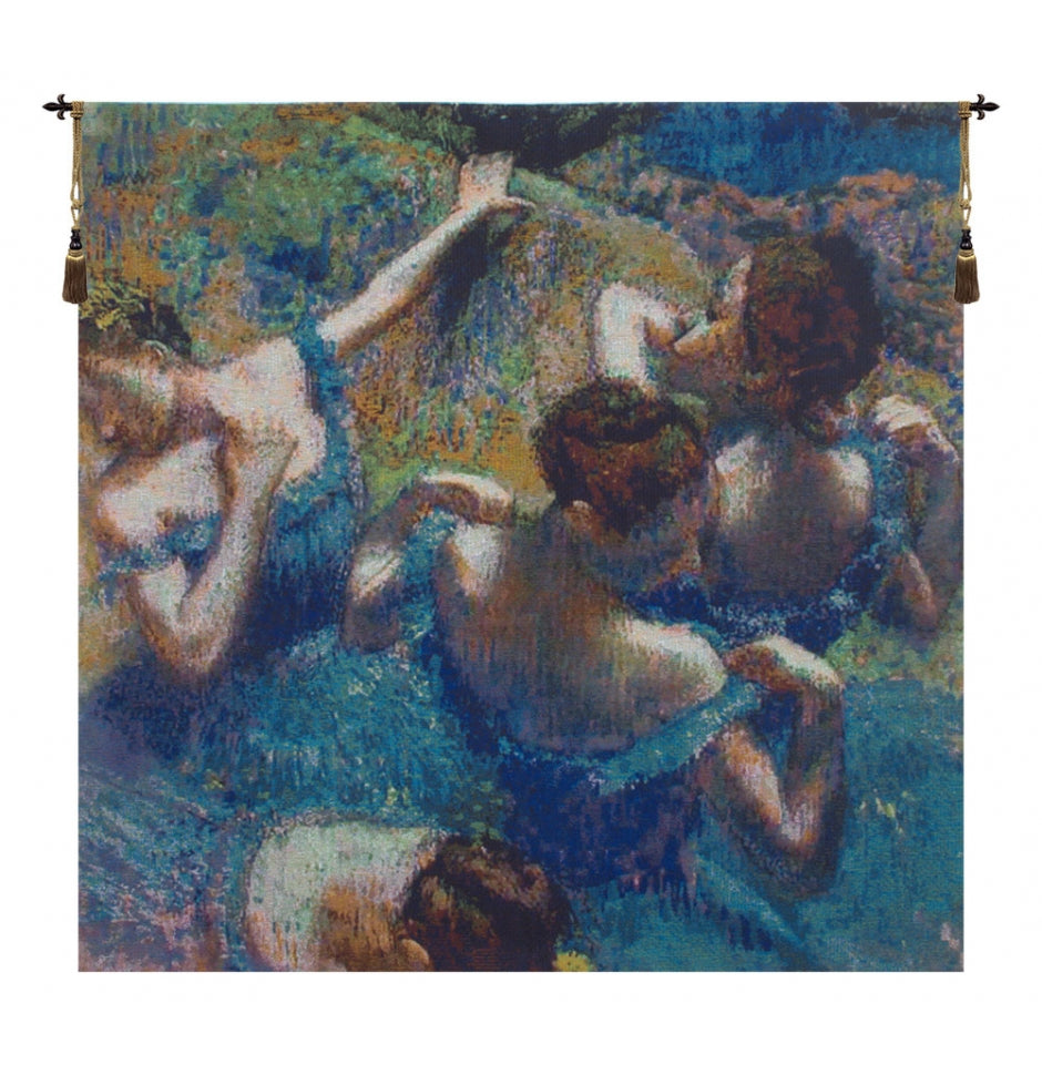 Blue Dancers European Hanging Wall Tapestry