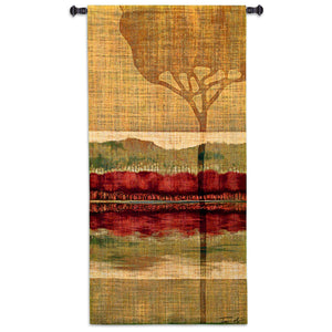 Autumn Collage Woven Tapestry