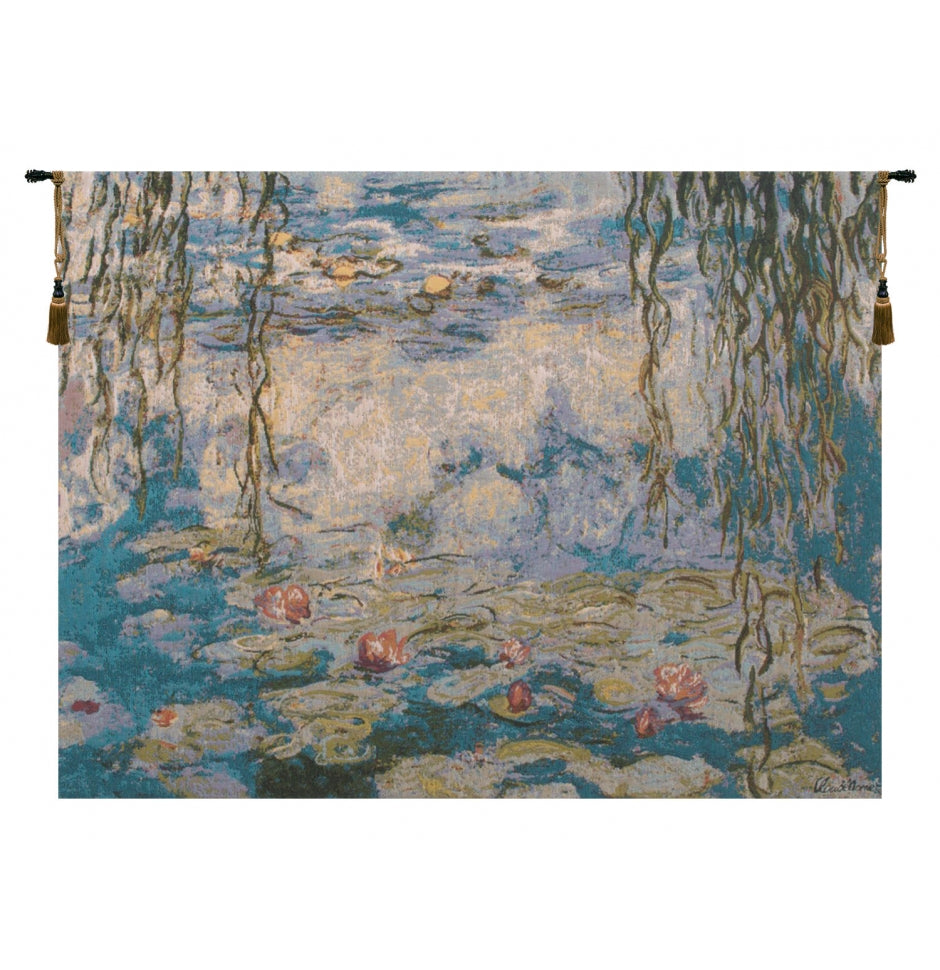 Water Lilies Les Nympheas European Wall Hanging Tapestry