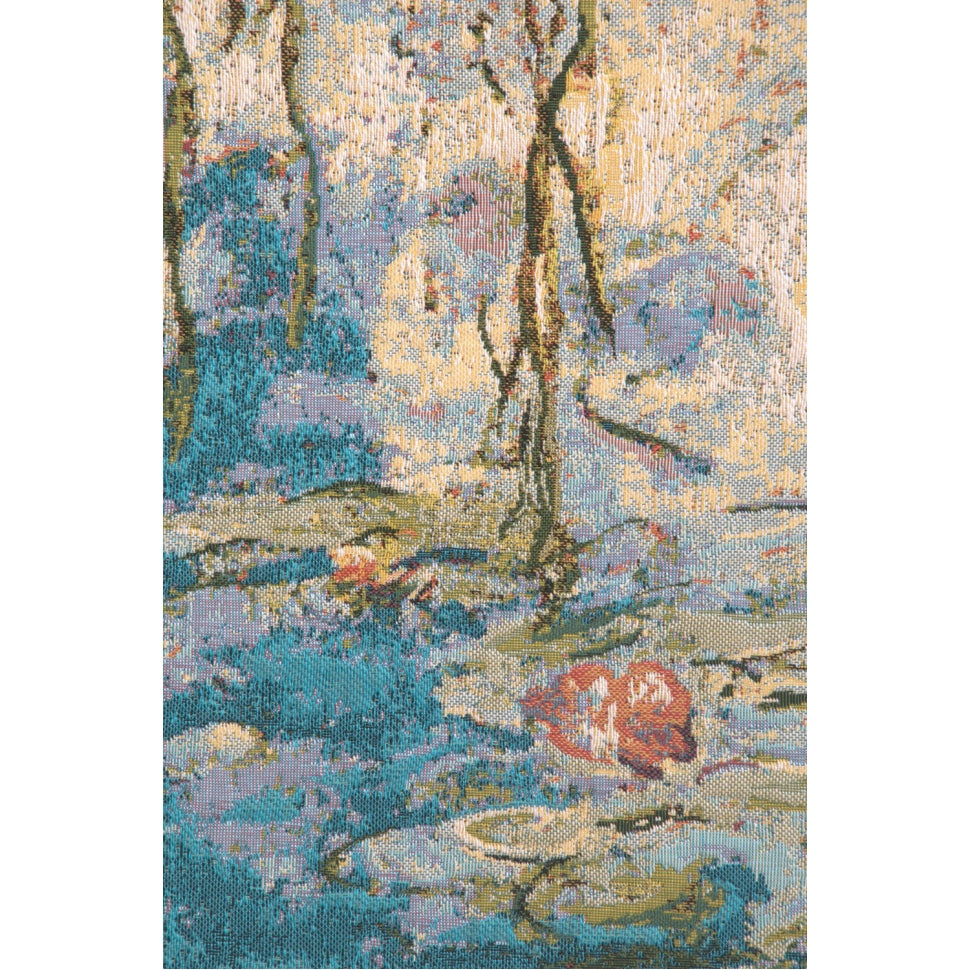 Wide Blue Water Landscape Textile Cotton Art