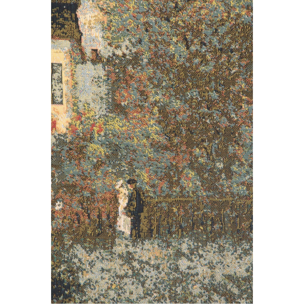 Monet Large Green Woven Wall Art