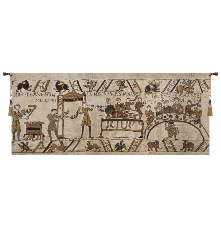Bayeux Banquet II European Hanging Wall Tapestry