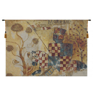 Chevaliers Right Panel European Hanging Wall Tapestry