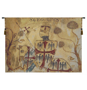 Chevaliers Left Panel European Hanging Wall Tapestry
