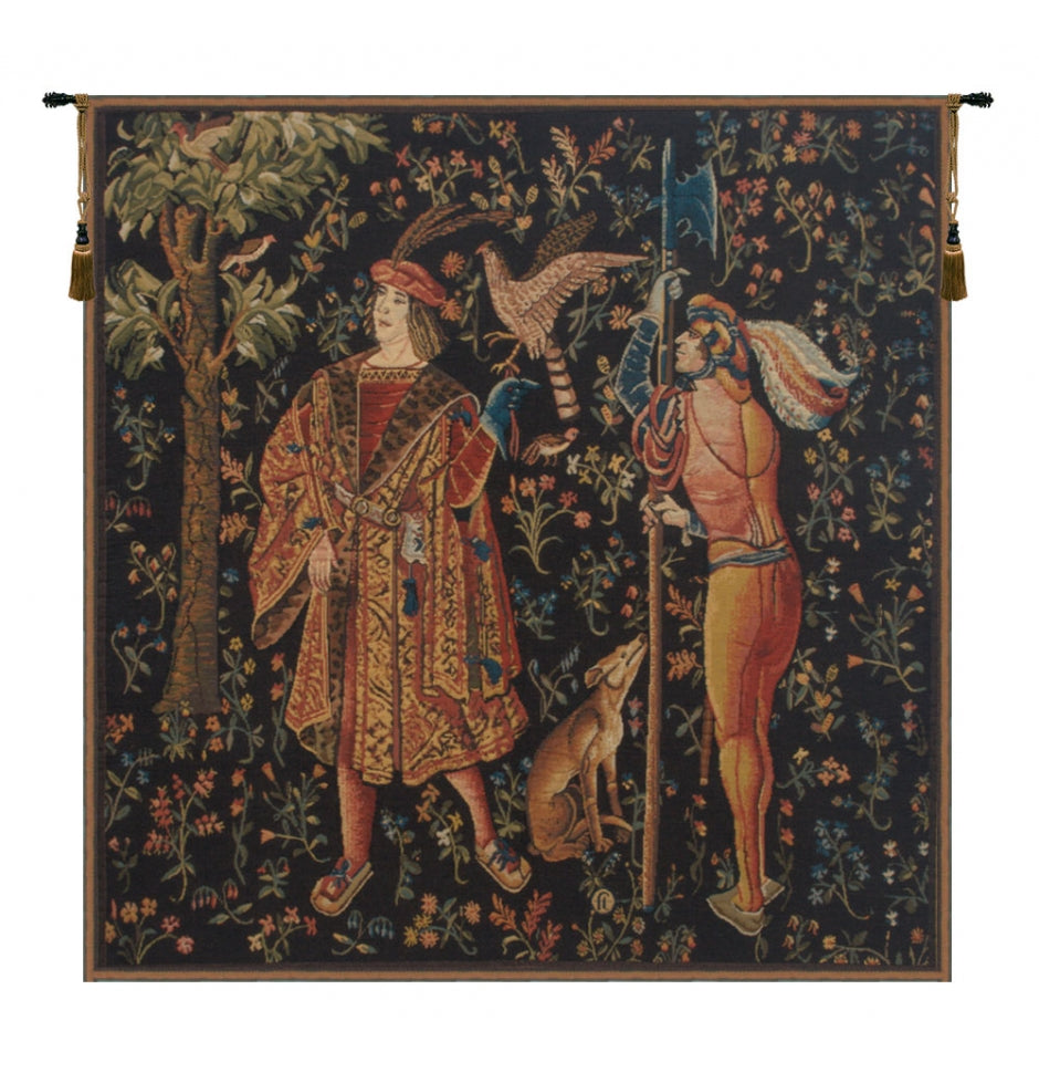 Falconer Mille Fleure European Hanging Wall Tapestry