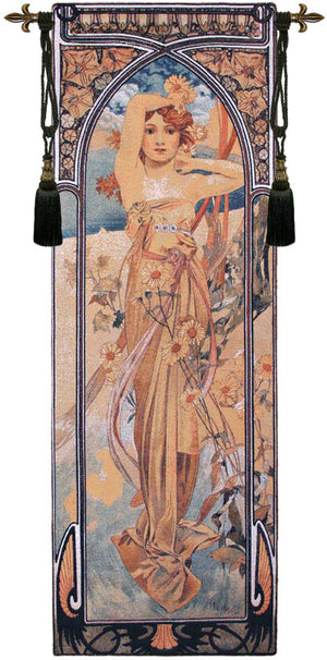 Mucha Jour European Wall Hanging Tapestry