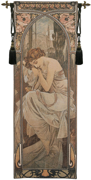 Mucha Nuit European Wall Hanging Tapestry