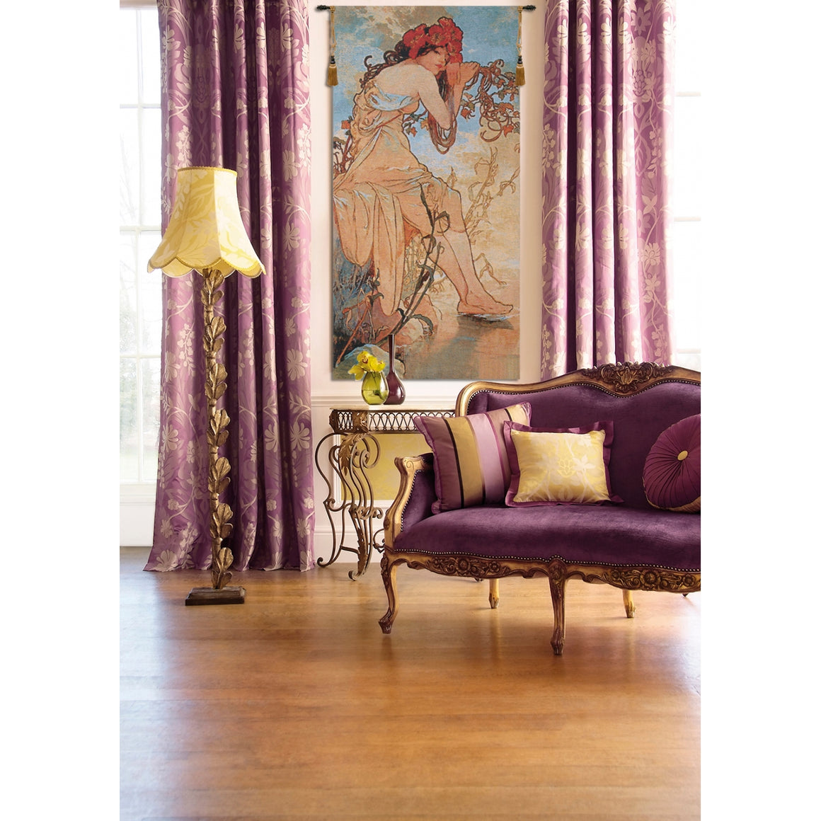 Summer Mucha European Hanging Wall Tapestry