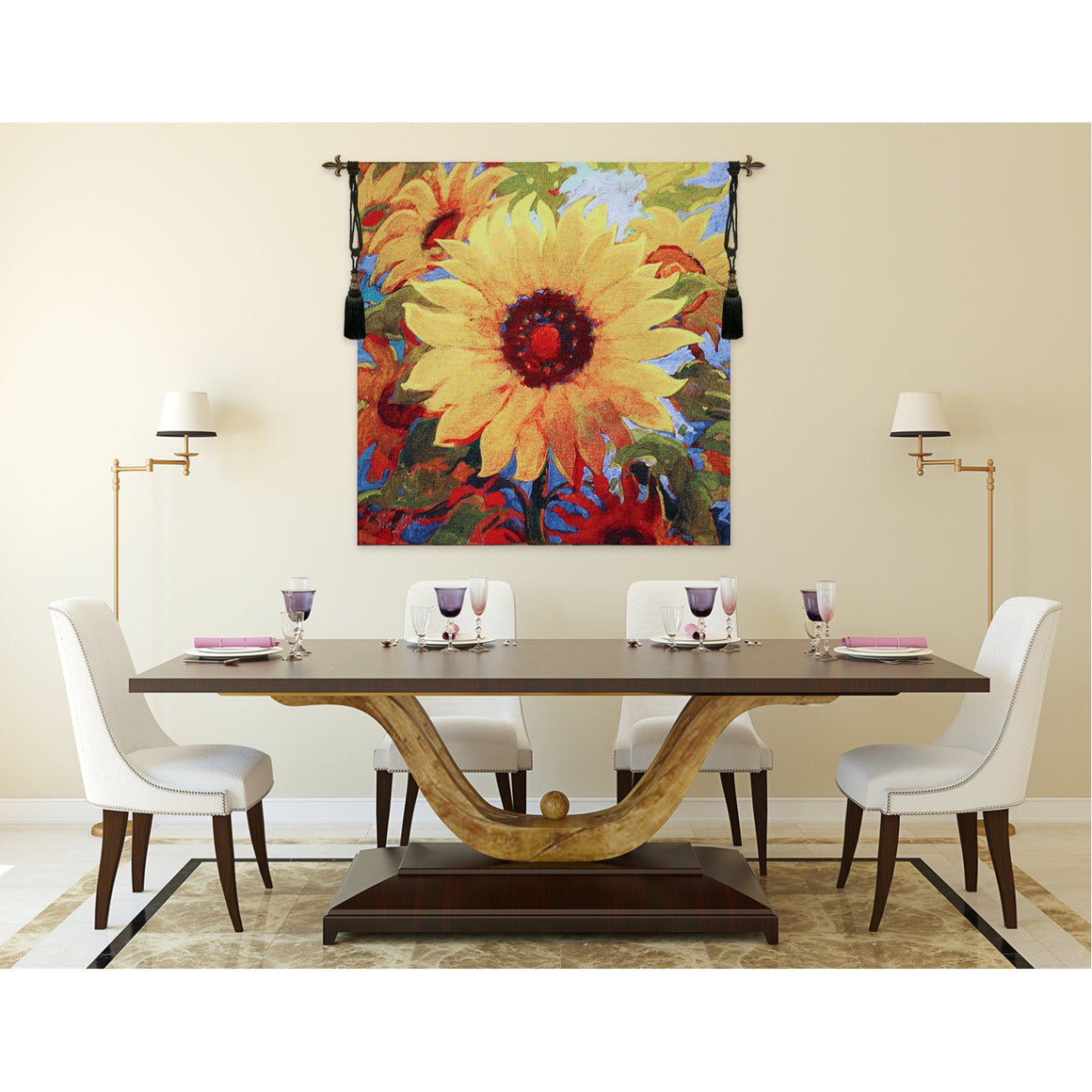 Sun Flowers Wall Hanging Tapestry