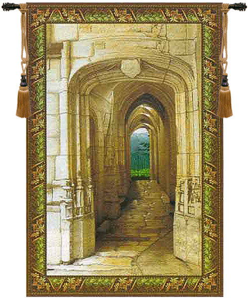 Cream Garden Archway Decorative Wall Hanging Tapestry