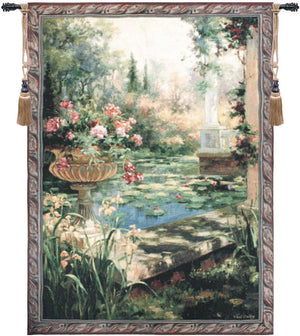 Green Lily Garden Decorative Wall Hanging Tapestry