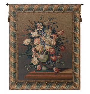 Breughel's Vase Dark European Hanging Wall Tapestry