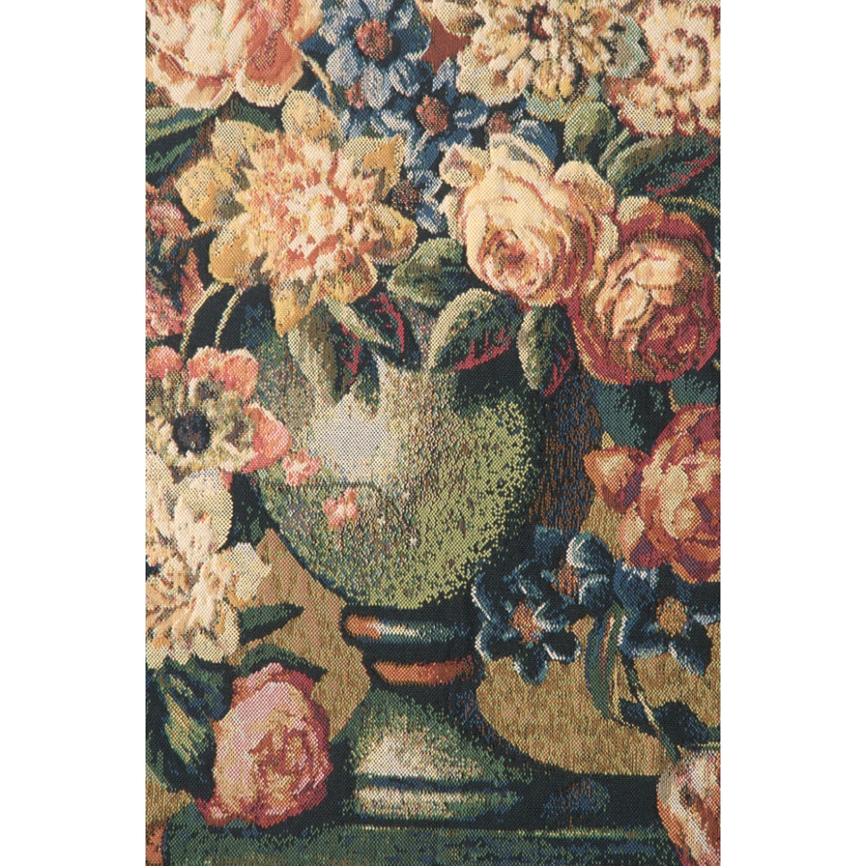 Large Cotton Flowers in Vase Textile