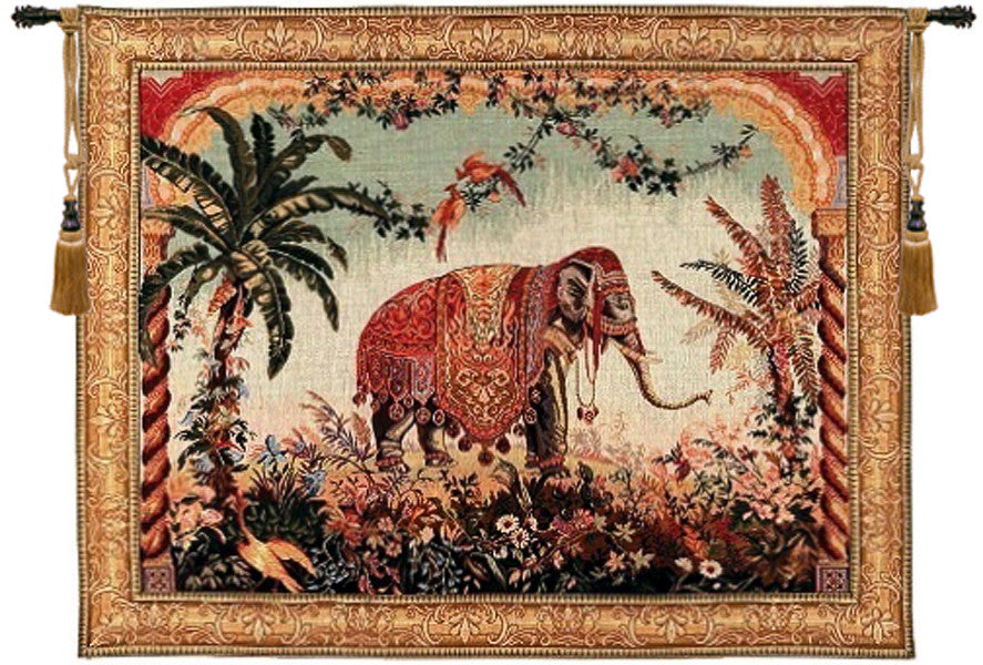 Royal Elephant French Decor Wall Tapestry