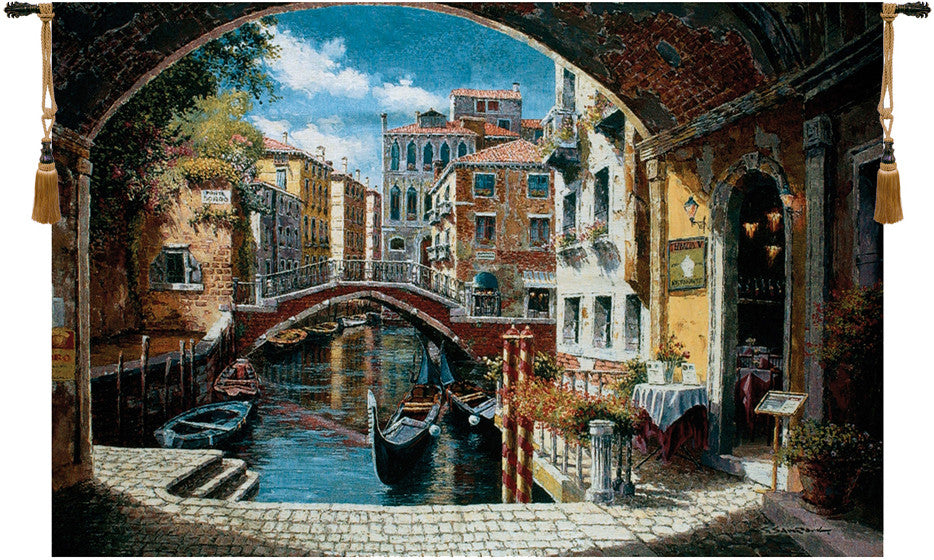 Archway To Venice Fine Art Decor Wall Tapestry