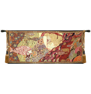 Sleeping Danae by Klimt Italian Wall Hanging Tapestry