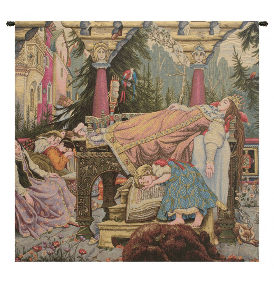 Sleeping Beauty Italian Wall Hanging Tapestry