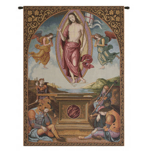 Blue Resurrection Italian Wall Hanging Tapestry