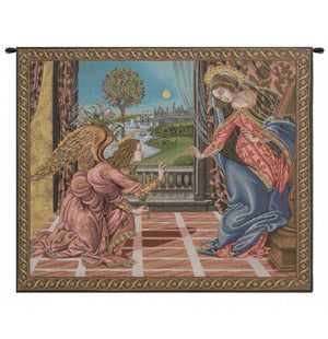 Annunciation Botticelli Italian Wall Hanging Tapestry