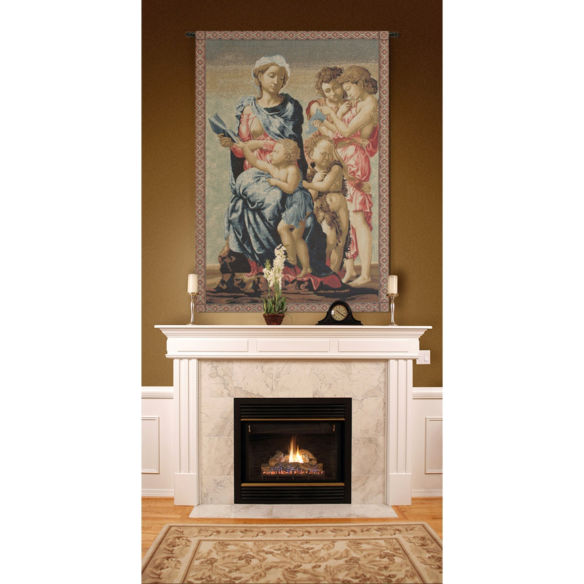 Cream Madonna from Manchester Italian Wall Hanging Tapestry