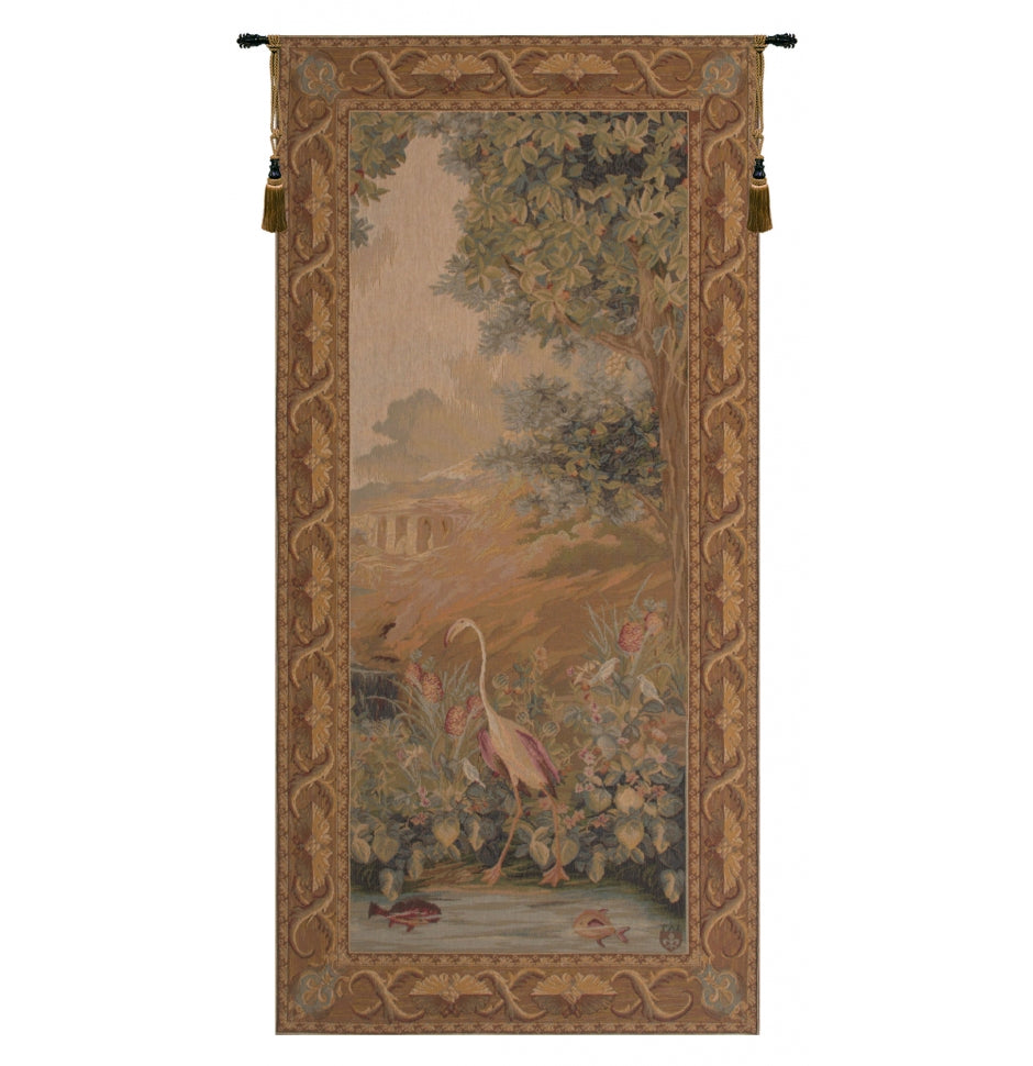 Red Le point Deau Flamant Rose French Decor Wall Tapestry