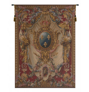 Grandes Armoiries Red French Decor Wall Tapestry