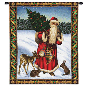 Father Christmas Red Wall Tapestries