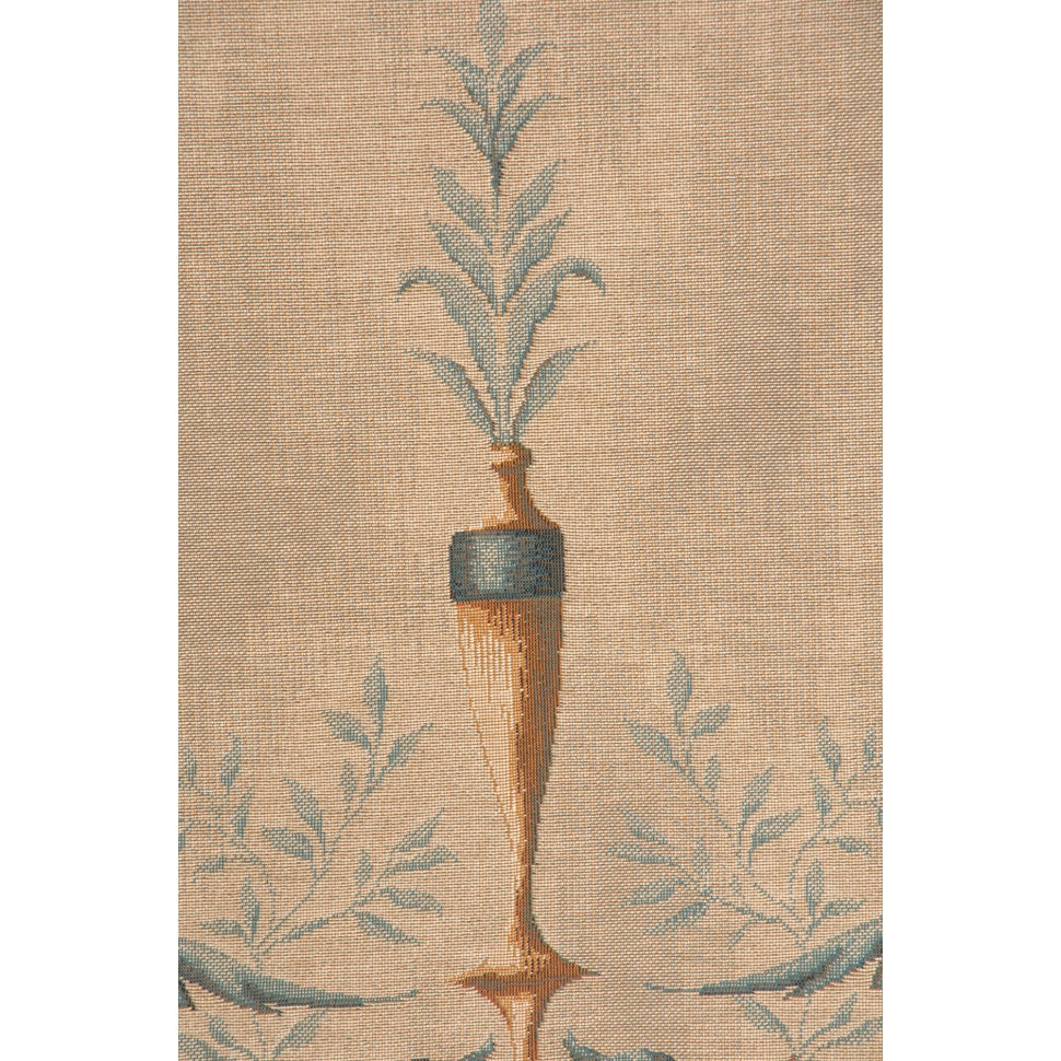 Beige Portiere Gold Lady French Decor Wall Tapestry
