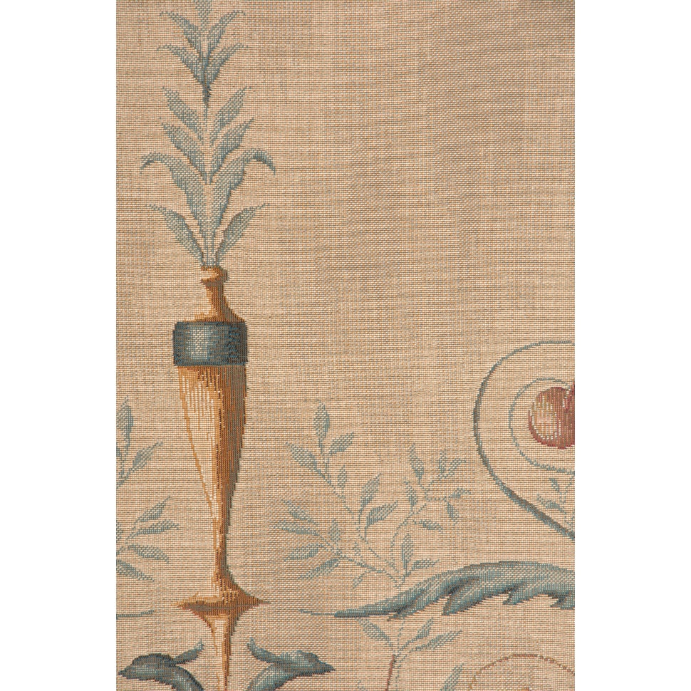 Cream Portiere Blue Lady French Decor Wall Tapestry