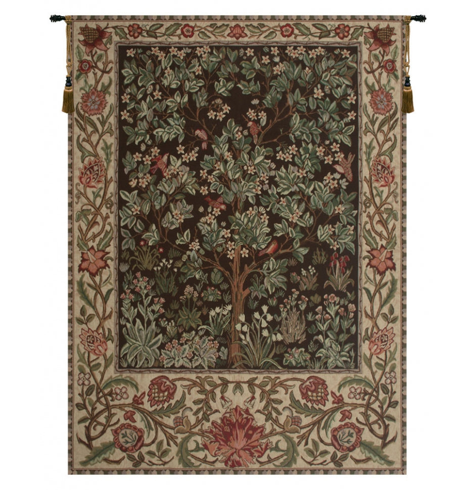 Tree of Life Brown Decorating Tapestry