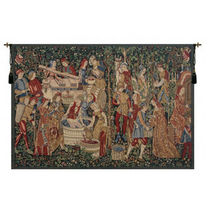 Vendages Red Wall Hanging Tapestry