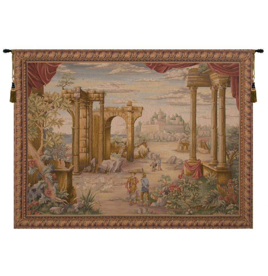 Vue Antique French Decor Wall Tapestry