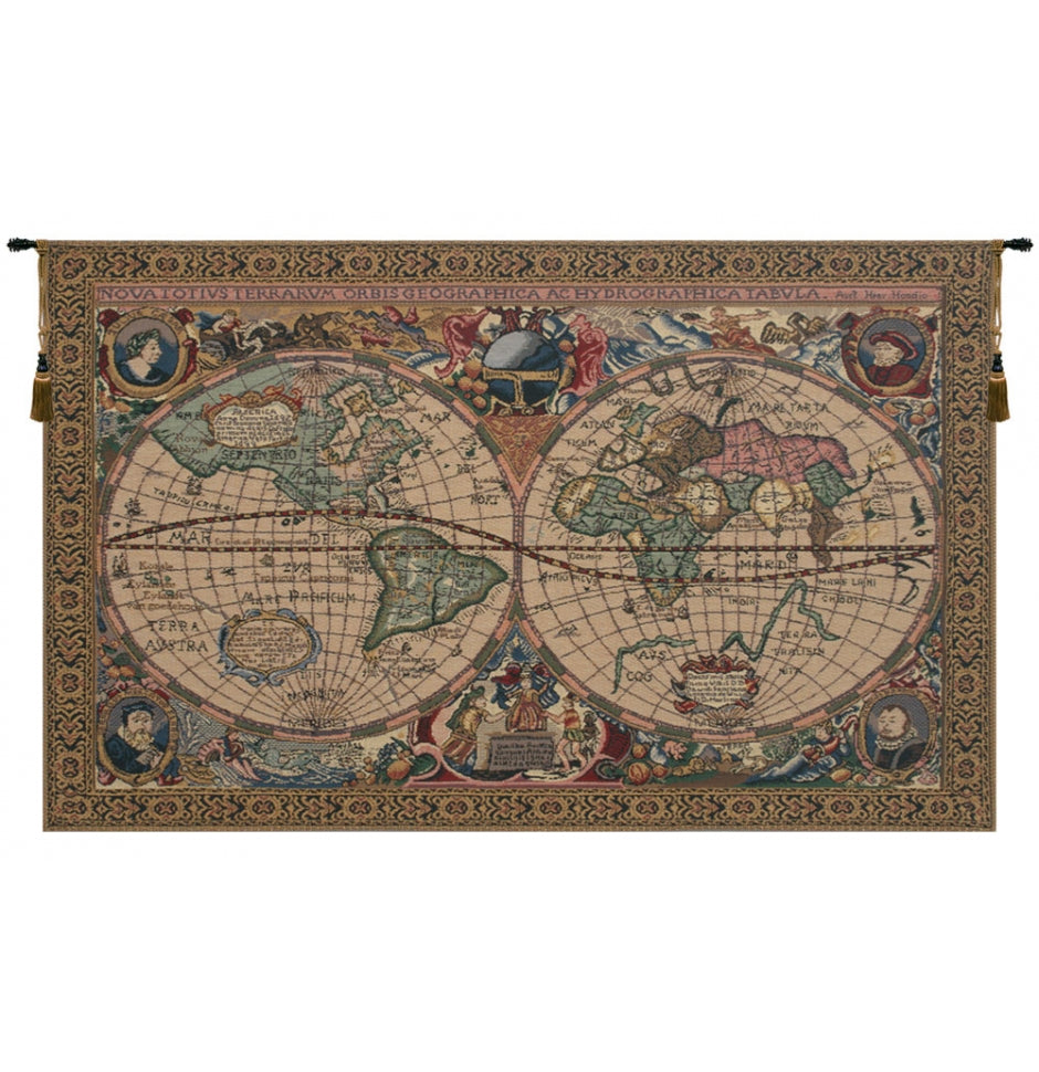 Map Mercator Tapestry Wall Hanging